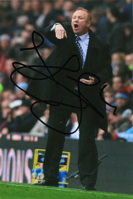 Alex McLeish, Birmingham City, signed 6x4 inch photo.